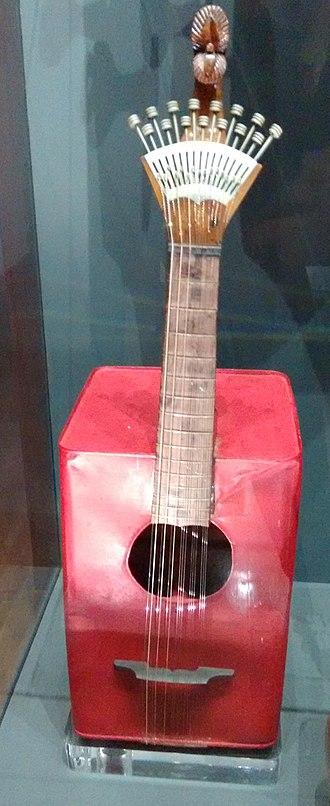 Museum of Portuguese Music (Estoril) - A Portuguese guitar at the Museum