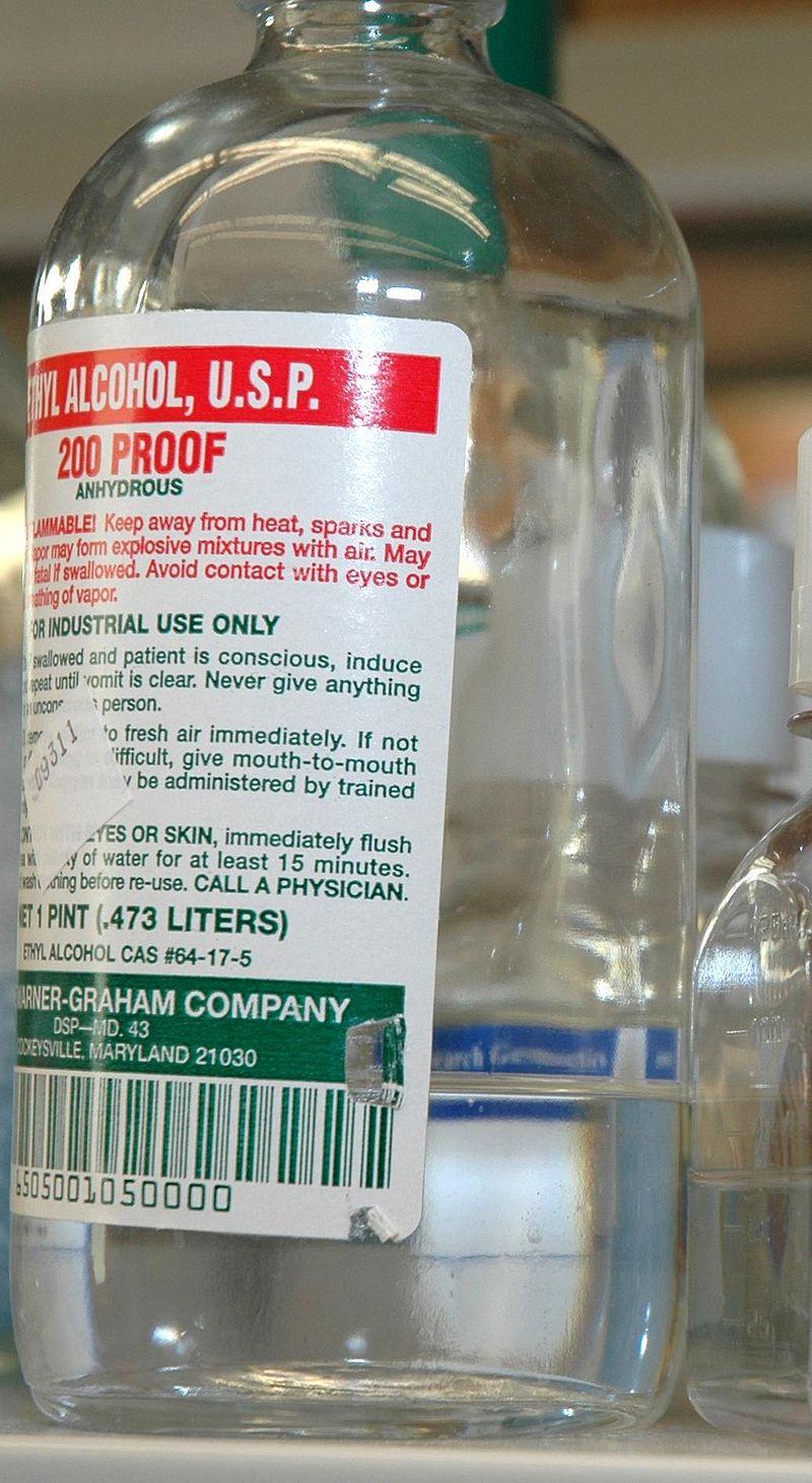 Absolute ethyl alcohol bottle vintage chemical bottle science lab - Ethyl Alcohol Usp Grade Jpg