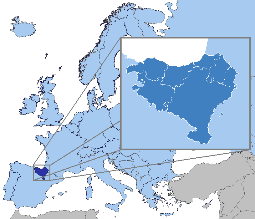 Location of the Basque Country