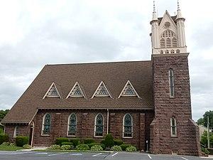 Bernville, Pennsylvania - Image: Evangelical Lutheran Friedens Church, Bernville PA 03