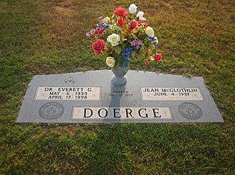 Everett Doerge - The grave of Louisiana State Representative Everett Doerge at Gardens of Memory Cemetery in Minden