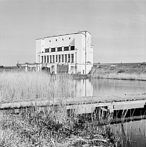 Wieringermeer - The huge Lely pumping station lies at the southern end of Wieringermeer near Medemblik and functions to keep the polder dry.