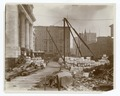Exterior marble work - view of materials in front of the Fifth Avenue facade, looking north (NYPL b11524053-489537).tiff