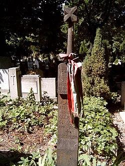 Fáy Aladár sírja Budapesten. Farkasréti temető: 1/6-2-25.