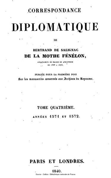 File:Fénelon - Correspondance diplomatique, tome 4.djvu