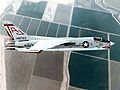F-8H Crusader of VF-111 in flight over California 1970.jpg