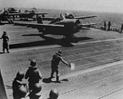 F4Fs launching from USS Wasp Aug 1942