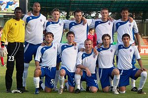 FC Baku - Baku's line up before a 2009–10 UEFA Champions League 2QR match against Ekranas