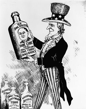 Harvey Washington Wiley - Image: FDA History Sure Cure Cartoon