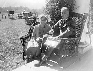 Franklin D. Roosevelt's paralytic illness - FDR and Eleanor Roosevelt at Hyde Park (September 16, 1927)