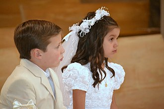 Coming of age - First Communion in Mexico City, Mexico.