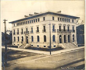 United States Post Office, Custom House, and Courthouse (Fernandina, Florida) - U.S. Post Office, Custom House, and Courthouse (n.d., ca. 1912) Completed in 1912