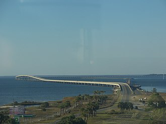 St. George Island Bridge - Image: FL St George lths top view north 02