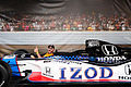 FanVillage Dallara-Honda DW12 IZOD Promo Two-Seater Bri Kupfer SPGP 24March2012 (14699698135).jpg