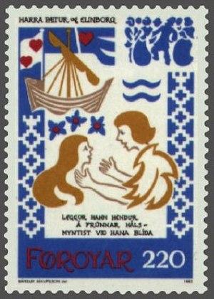Kvæði - Image: Faroe stamp 069 paeturs departure