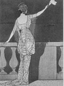 Fashion Plate evening gown Jeanne Paquin 1913
