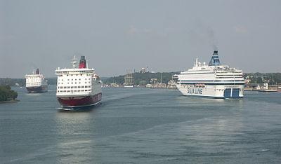 Passagerarfärjor i Mariehamns hamn