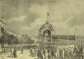 Festas do Centenário de Camões (1880) - O pavilhão da Praça do Comércio na ocasião e ser assinado o Auto do Cortejo Cívico.png
