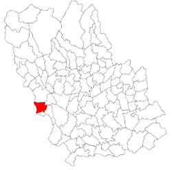 Location of Filipeștii de Pădure