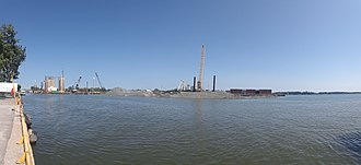 Keating Channel - Filling in part of the mouth of the Keating Channel, to construct Villiers Island.