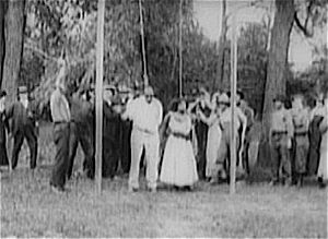 Within Our Gates - Still from Within Our Gates, portraying the lynching of Jasper Landry (William Stark) and his wife (Mattie Edwards)