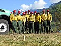 Firefighter Crew by truck, Mt Baker Snoqualmie National Forest (23516721451).jpg