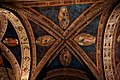 Firenze - Florence - Via Orsanmichele - Chiesa di Orsanmichele 1350 by Simone Talenti, Neri di Fioravante & Benci di Cione - View Up on Vaults & Frescoes II.jpg