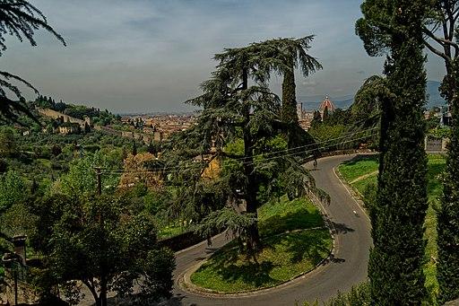 Firenze, Via del Monte alle Croci, Vista verso il Duomo