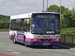 First Greater Manchester - Wright Endurance bodied Volvo B10B on route 510 in Bury in June 2008
