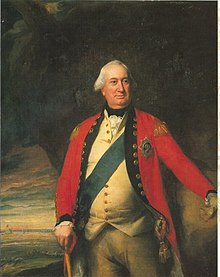 Portrait of British army commander General Cornwallis in dress uniform.