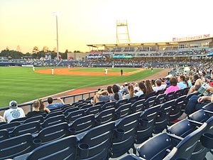 Oakland Athletics - First Tennessee Park in Nashville, Tennessee, home of the Nashville Sounds, the Athletics' Triple-A affiliate