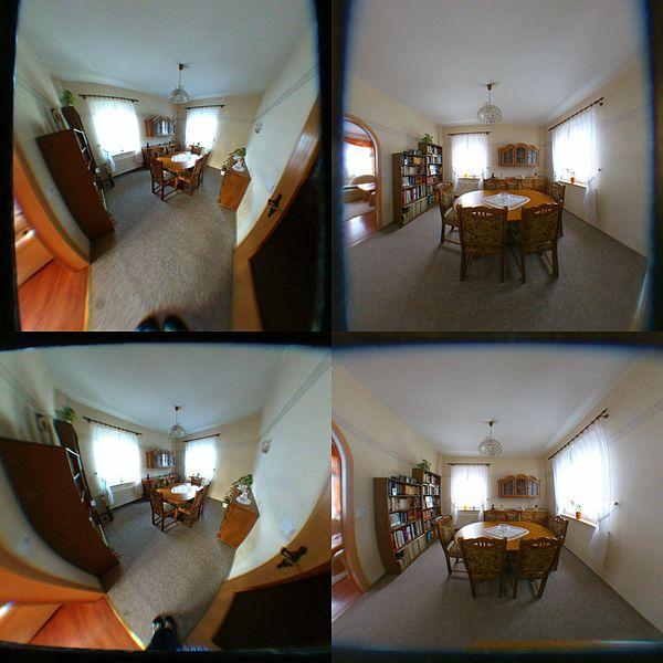 Fisheye lens room 0.2x (real 0.25x)