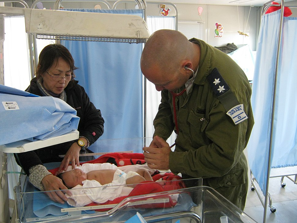 Flickr - Israel Defense Forces - IDF Doctors Treat New Mothers and Their Babies (1)