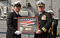 Flickr - Official U.S. Navy Imagery - Cmdr. Richard Meyer receives the command pendant of USS John L. Hall..jpg