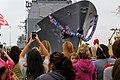 Flickr - Official U.S. Navy Imagery - Family members await the arrival of USS Bunker Hill. (1).jpg