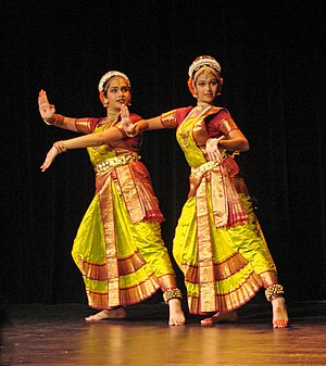 Kuchipudi - Kuchipudi dancers Mihira Pathuri (left) and Pooja Reddy (right) performing in Paris
