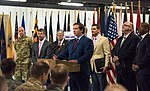 Florida Governor Ron DeSantis addresses a crowd about a new initiative geared toward helping service members with civil legal affairs.jpg