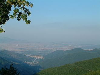 Meliti - Florina city- in the background is the electricity power plant of Meliti.