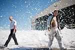 Flurry of foam released at Travis (15).jpg