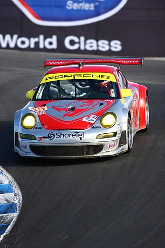 Flying Lizard Motorsports - Image: Flying Lizard Porsche at Laguna