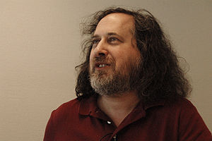 English: Richard Stallman Founder of GNU Proje...