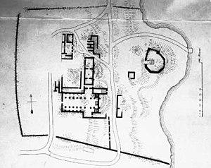 Vårfruberga Abbey - Reconstruction of the plan of Vårfruberga Abbey