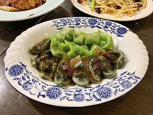 虎皮青椒皮蛋, 老罈香川味兒川菜館, 台北, 台灣, Taipei, Taiwan