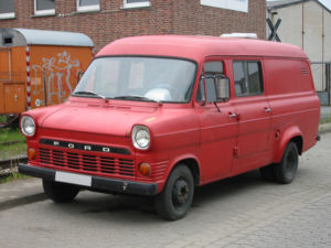 Ford Transit - Mark I long-wheelbase Ford Transit with twin rear wheels and widened arches