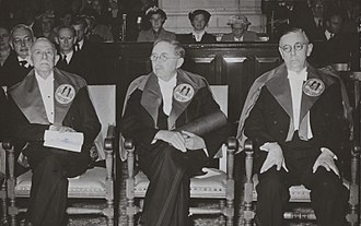 Jean Schlumberger - Honorary doctorate of Leiden University (1954)