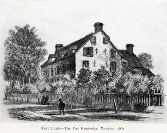 Manor of Rensselaerswyck - Manor House, or Fort Crailo, c.1663