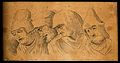 Four physiognomies expressing evil characters. Drawing, c. 1 Wellcome V0009196.jpg