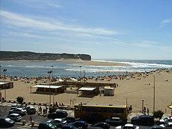 Foz do Arelho: vista da praia.