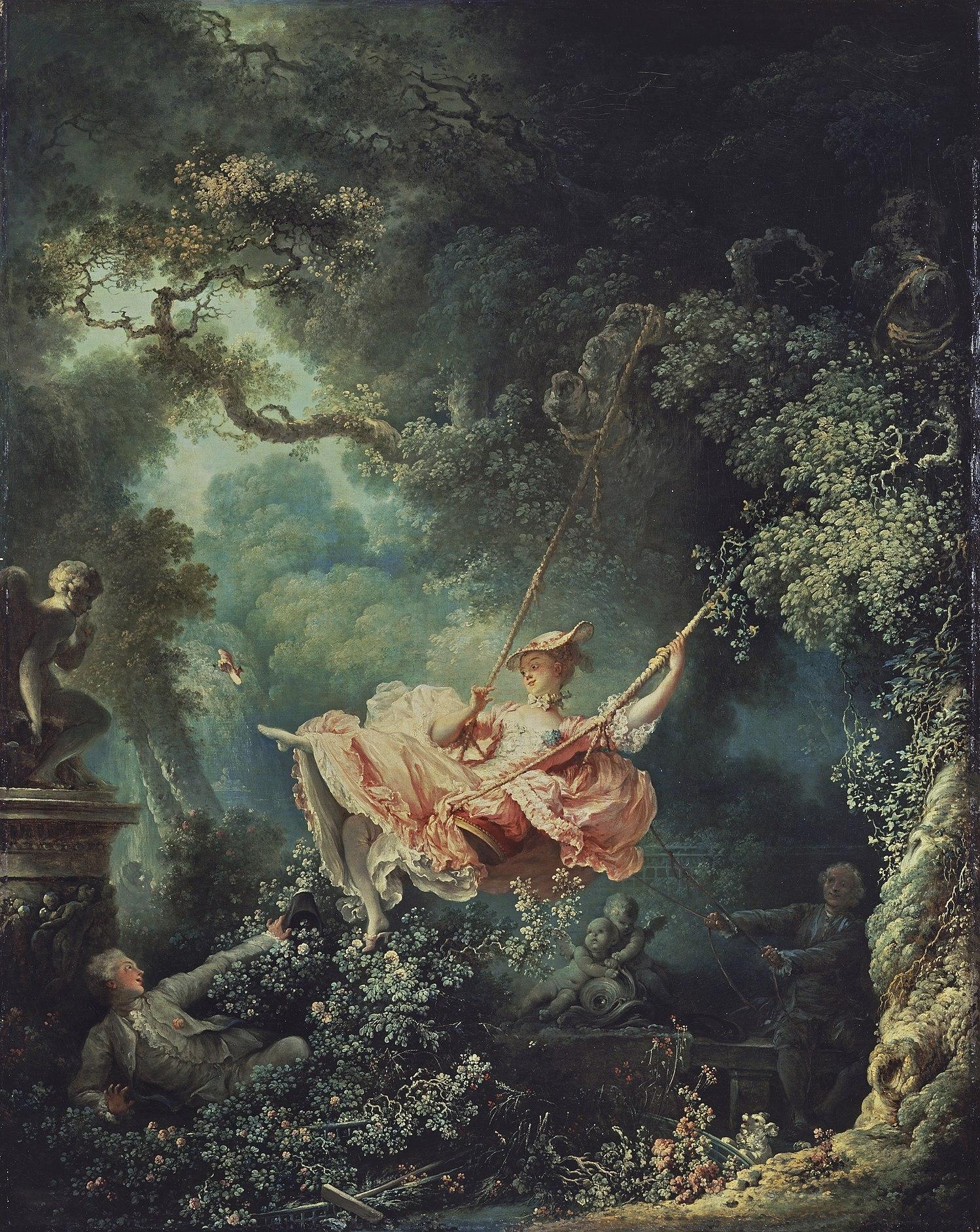 Fragonard swing rococo 18th century painting
