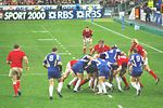 France playing Wales during the Six Nations Championship